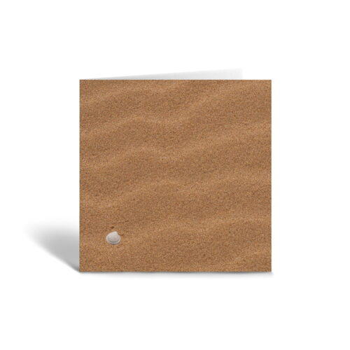 Orange Fig Tiny Shell Greetings Card Front