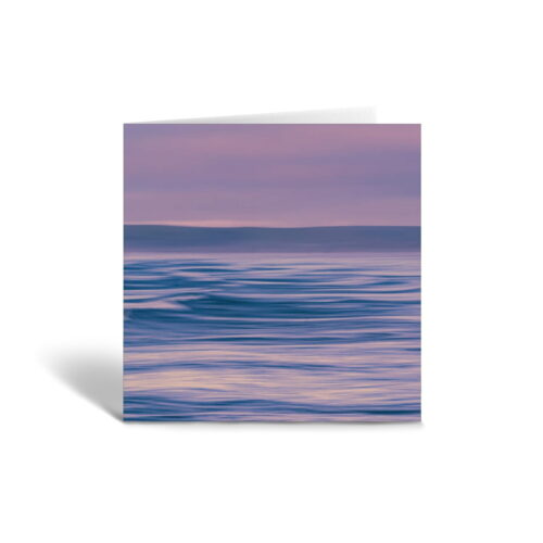 Orange Fig Abstract Seascape Greetings Card Front