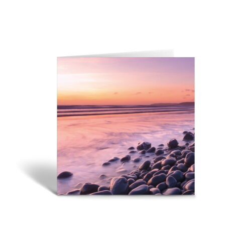 Orange Fig Perfect Summer Sunset Greetings Card Front