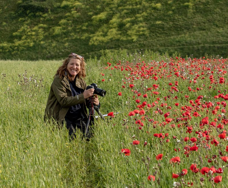Jen Rogers with her camera